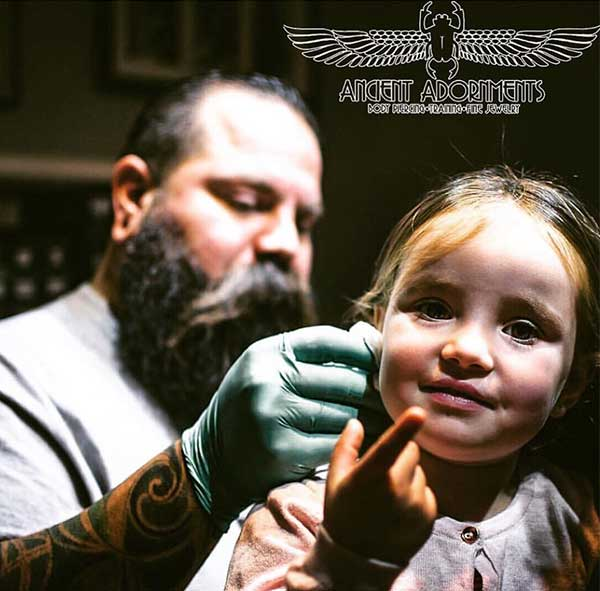 Child friendly piercing shop